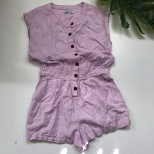 Urban Outfitters linen rayon romper lathe